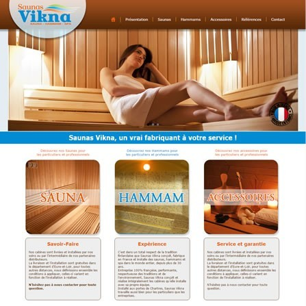 Un site mobile-friendly pour les Saunas VIKNA